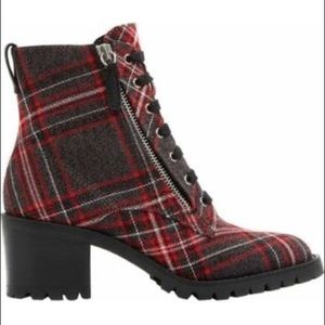 Aldo Abauvia Combat Boot in Plaid